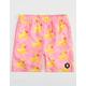 NEFF Ducky Pink Boys Hot Tub Volley Shorts
