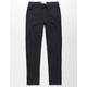 LEVI'S Zipper Hem Pull On Black Boys Jogger Pants