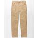 LEVI'S Zipper Hem Pull On Khaki Boys Jogger Pants