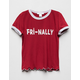WHITE FAWN Fri-Nally Girls Ringer Tee
