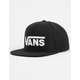 VANS Drop V II Black Mens Snapback Hat