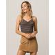 FULL TILT Stripe Cinch Front Womens Halter Top