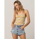 GOOD LUCK GEM Cinch Stripe Mustard Womens Crop Cami