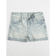 REWASH Railroad Stripe Girls Denim Shorts