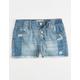 REWASH Exposed Button Girls Ripped Denim Shorts
