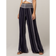 INDIGO REIN Stripe Linen Womens Pants