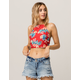 ELODIE Tropical High Neck Womens Crop Top