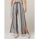 INDIGO REIN Tie Waist Stripe Linen Womens Pants