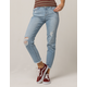 CELEBRITY PINK Straight Leg Fray Ankle Womens Ripped Jeans