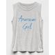 WHITE FAWN American Girl Girls Tank Top