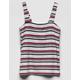 FULL TILT Ribbed Stripe Girls Tank Top