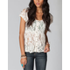 FULL TILT Lace Peplum Womens Shirt