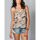 LOTTIE & HOLLY Lace Racerback Womens Top