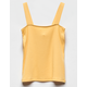FULL TILT Ribbed Mustard Girls Tank Top