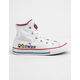 CONVERSE x Hello Kitty Chuck Taylor All Star White & Prism Pink High Top Girls Shoes