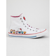 CONVERSE x Hello Kitty Chuck Taylor All Star White & Prism Pink High Top Womens Shoes