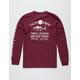 SALTY CREW Markets Burgundy Mens T-Shirt