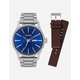 NIXON 2 Pack Sentry Silver & Blue Watch