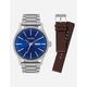 NIXON 2 Pack Sentry Silver & Blue Watch