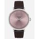 NIXON Arrow Leather Silver & Pale Lavender Watch