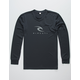 RIP CURL State Beach Charcoal Mens Rash Guard