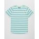BROOKLYN CLOTH Banana Stripe Mint Boys T-Shirt