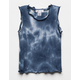 WHITE FAWN Tie Dye Lettuce Edge Girls Tank Top