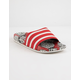 ADIDAS Adilette Scarlet & Off White Womens Slides