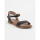 SODA Comfy Meadow Black Womens Sandals