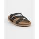 SODA Braided Strap Buckle Black Womens Sandals
