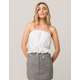 IVY & MAIN Eyelet White Womens Tube Top