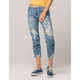 CELEBRITY PINK Fray Crop Ankle Womens Ripped Jeans
