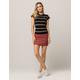 IVY & MAIN Seamed Corduroy Mini Skirt