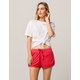 OTHERS FOLLOW Weekend Red Womens Dolphin Shorts