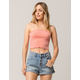 SKY AND SPARROW Ribbed Peach Womens Tube Top