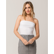 BOZZOLO Cinched Side White Womens Tube Top