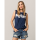 RVCA Oblow Roses Womens Tank Top