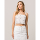 IVY & MAIN Embroidered Womens Crop Cami