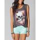 FULL TILT Rose Skull Womens Studded Shirt