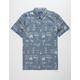 QUIKSILVER Mad Wax Light Blue Mens Shirt