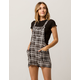 IVY & MAIN Black & White Womens Shortalls