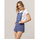 IVY & MAIN Stripe Womens Shortalls
