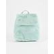 T-SHIRT & JEANS Faux Fur Mint Mini Backpack