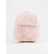 T-SHIRT & JEANS Faux Fur Pink Mini Backpack