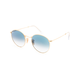 RAY-BAN Round Flat Lenses Light Blue Gradient & Gold Sunglasses