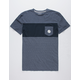 QUIKSILVER Jacquard Block Mens Pocket Tee