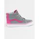 VANS Sk8-Hi Flower Zip Girls Shoes