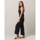 MIMI CHICA Medallion Tie Back Womens Tube Jumpsuit