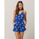 MIMI CHICA Floral Tie Back Womens Romper