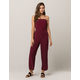 MIMI CHICA Polka Dot Tie Back Womens Tube Jumpsuit